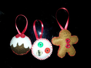 Festive felt decorations
