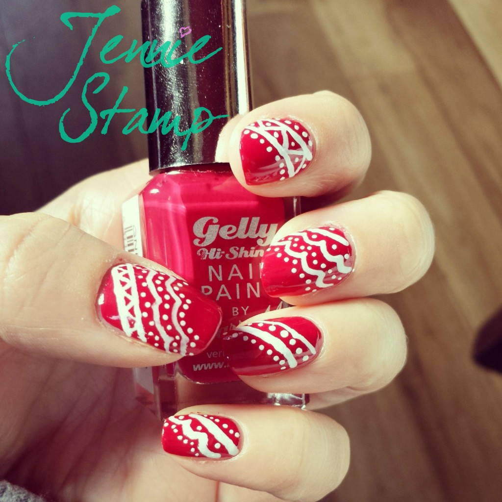 Lace Effect Nail Art