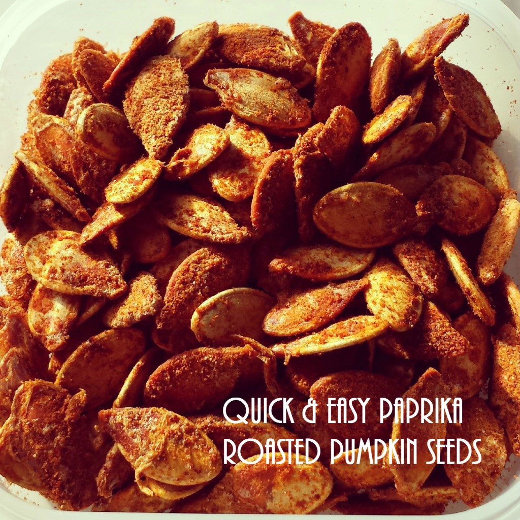 Quick and Easy Paprika Roasted Pumpkin seeds recipe