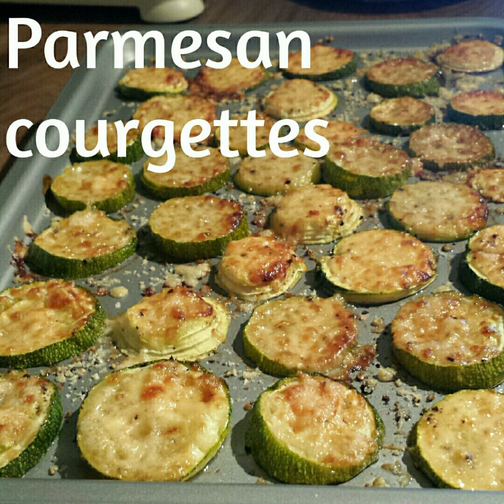 Baked parmesan courgettes