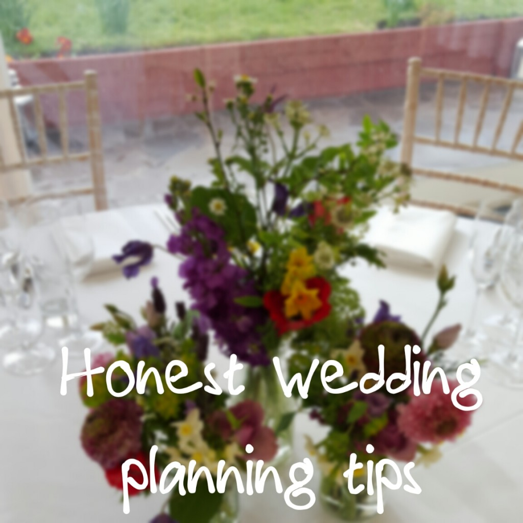 Honest wedding planning tips