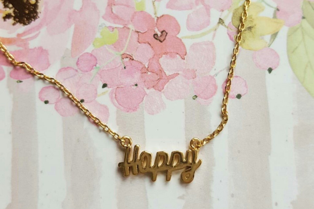 Happy necklace from ASOS